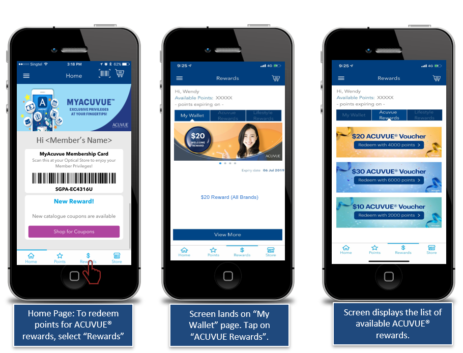 ACUVUE Rewards Screens